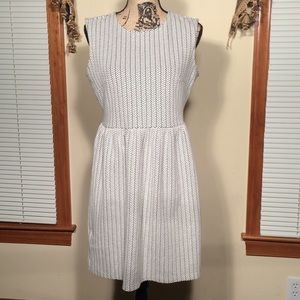 Ann Taylor LOFT 12P Black and White Dress